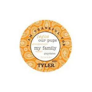 Paisley Boys Personalized Thanksgiving Plate