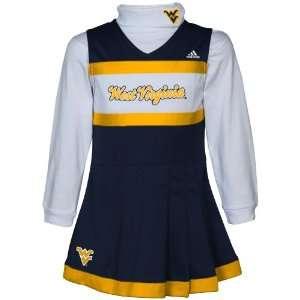 Girls Navy Blue White 2 Piece Turtleneck & Cheerleader D