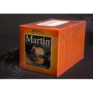 Bulk 12 Sets, Martin, Acoustic Guitar Strings, Light Medium Gauge