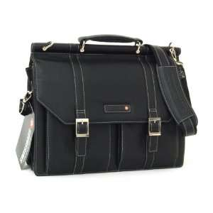 Swiss Bags Dowel Rod Briefcase Genuine Leather Portfolio