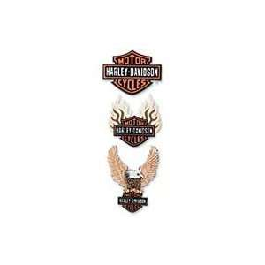 Harley Davidson Motorcycle Color Logos Dimensional Stickers