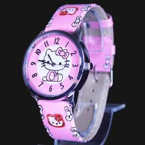Hello Kitty Pink Wrist Watch + Promo Hello Kitty Charm
