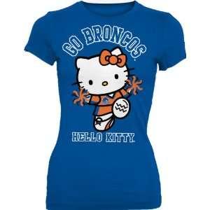 NCAA Boise State Broncos Hello Kitty Pom Pom Junior Crew Tee Shirt