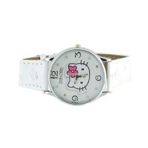 Hello Kitty Portable Leather Wrist Girls Kids Watch White Everything