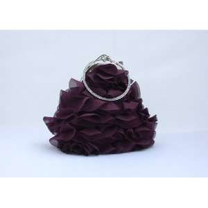Joyful 3d Flower Bridal Accessories Beaded Handbag Evening