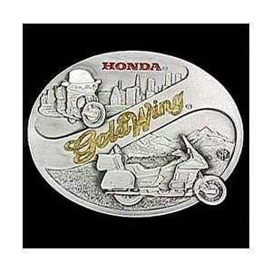 Pewter Belt Buckle   Honda Gold Wing