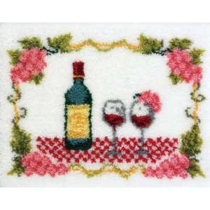 27x20 Latch Hook Kit: Fine Wine: Arts, Crafts & Sewing