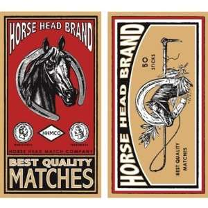 HomArt Horse Head Brand Large Decorative Matches Set Of 3