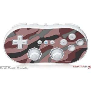 Wii Classic Controller Skin   Camouflage Pink by