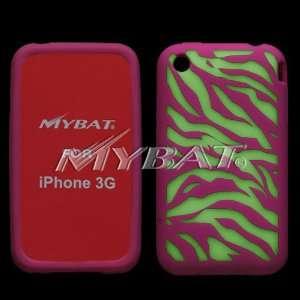 iPhone 3G Lightning Zebra (Hot Pink) Skin Case