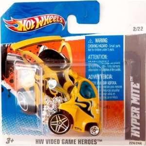 2011 Hot Wheels (Yellow) HYPER MITE #224/244, HW Video Game Heroes #2