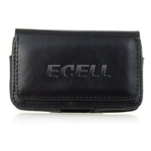 Ecell   BLACK LEATHER CASE POUCH & BELT CLIP FOR HTC HD7 Electronics