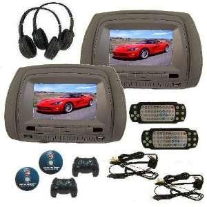 Touch screen Digital Car Headrest DVD Monitors: Car Electronics