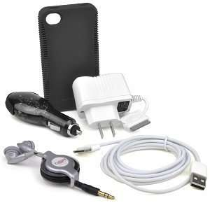 iPhone 4/4S Accessory Kit w/AC Charger, DC Power Adapter, USB