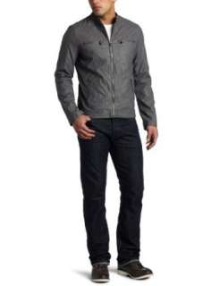 Levis Mens Faux Leather Motorcross Jacket Clothing