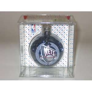 NEW JERSEY NETS (2 5/8 In Diameter) Color Filled Glass CHRISTMAS