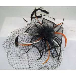 Black Flower Hair comb Hat Halloween Costume Accessory