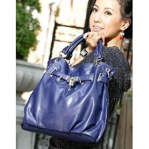 Faux PU Leather Purse Shoulder Bag Handbag Large Tote Fold