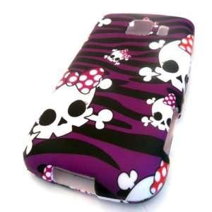Lg Optimus S V LG VM670 LS670 Purple Zebra Skull Bow Tie