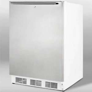 Refrigerator with Stainless Steel Door, Front Lock and Kitchen