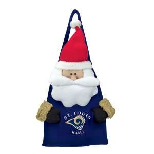 of 2 NFL St. Louis Rams Plush Santa Claus Christmas Door Decor or Bags