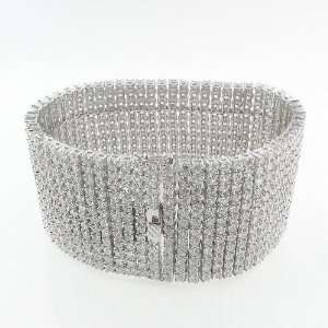 Mens Iced Out Hip Hop White Gold Plated 12 Rows 44mm 9