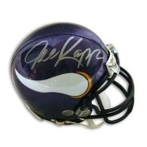 Autographed/Hand Signed Minnesota Vikings Mini Helmet
