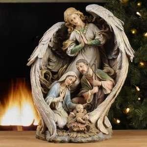 Angel Holy Family, Nativity Set, Large, 19.5 H