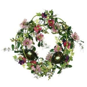 Wreath with Bird Nests and Eggs, 22 Inch Diameter