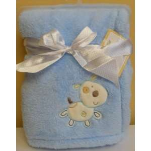 Cutie Pie Baby Soft/plush Baby Blanket   Blue Baby