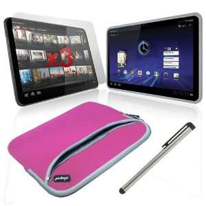 Xoom Tablet 10.2 inch Premium Dual Pocket Carrying Case in Pink