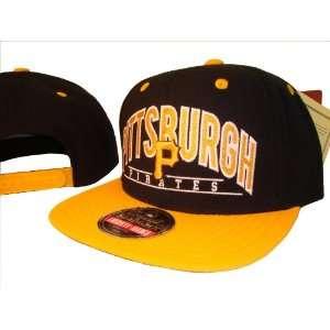 Black Pittsburgh Pirates Adjustable Snap Back Baseball Cap Hat