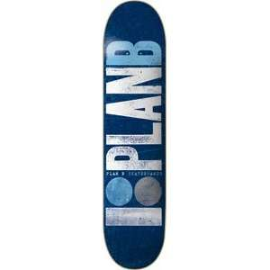 Plan B Original Team Skateboard Deck   8.0 Blue  Sports