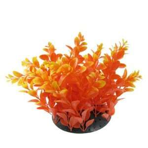 Como Fish Tank Plastic Yellow Orange Aquascaping Plants