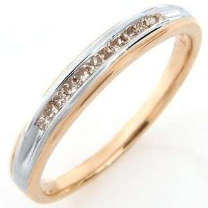 Princess Cut Diamonds Ring in Solid 10K Gold Ladies Size 7