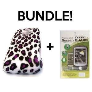 BUNDLE LG Optimus Q L55c Purple Cheetah Animal Print