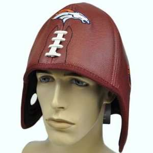 NFL Denver Broncos Reebok Football Shaped Brown Helmet Head Hat Cap