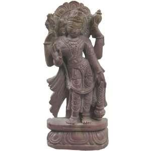Lord Vishnu Statue Stone Hindu God Religious Gift 6 x 3