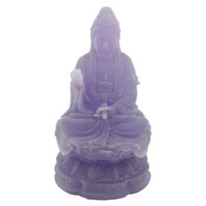 Dark Frosted Small Kwan Yin (Quan Yin) Resin Statue: Home & Kitchen