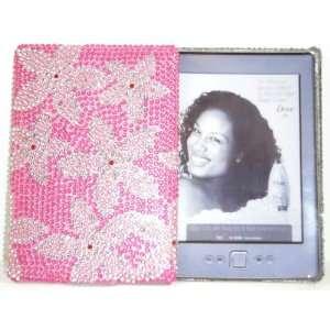 Pink Flowers Diamante Kindle Crystal Rhinestone Back Case Electronics