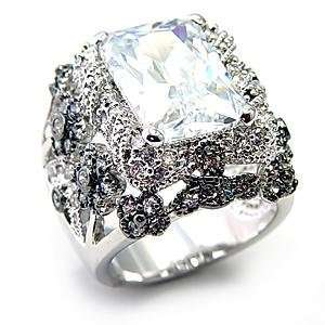 Size 9 Clear Cubic Zirconia Brass Ring AM Jewelry