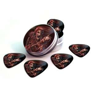 Guitarist Premium Guitar Picks x 5 With Tin Musical Instruments