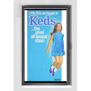 KEDS SNEAKERS LITTLE HAPPY GIRL RETRO AD Credit/Business Card Case USA