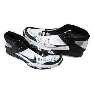 Game Used Portland Trail Blazers Black / White Shoes   NBA Sneakers
