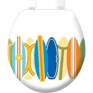 Surf board bathroom Soft TOILET SEAT Lid Surfs Up surfing