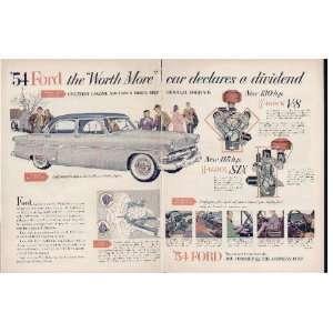 car declares a dividend  1954 Ford Ad, A4322A.