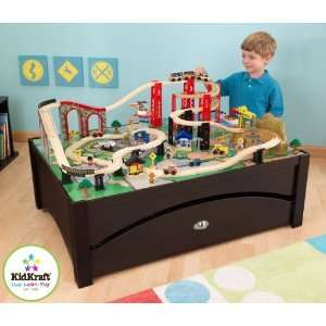 KidKraft Metro Train Table and Train Set: Toys & Games