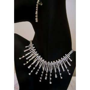 Prom Pageant Swarovski Crystal Necklace Earring Set