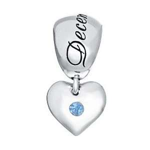 Heart   Genuine Tanzanite December Birthstone Bead For Charm Bracelets