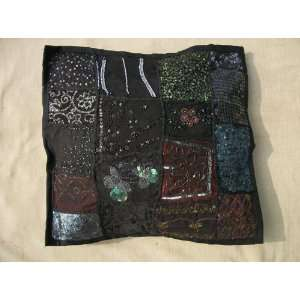 Decorative Throw Pillow Cover, Extensive Hand Embroidery